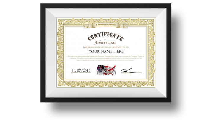 Government Contracting Certificate