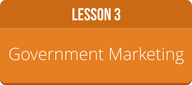 LESSON 3: GOVERNMENT MARKETING