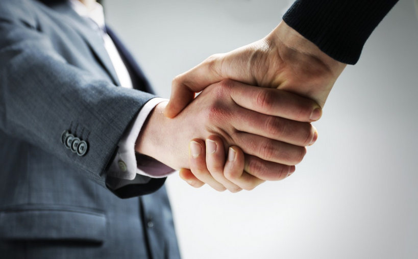 Picture of businessmen shaking hands